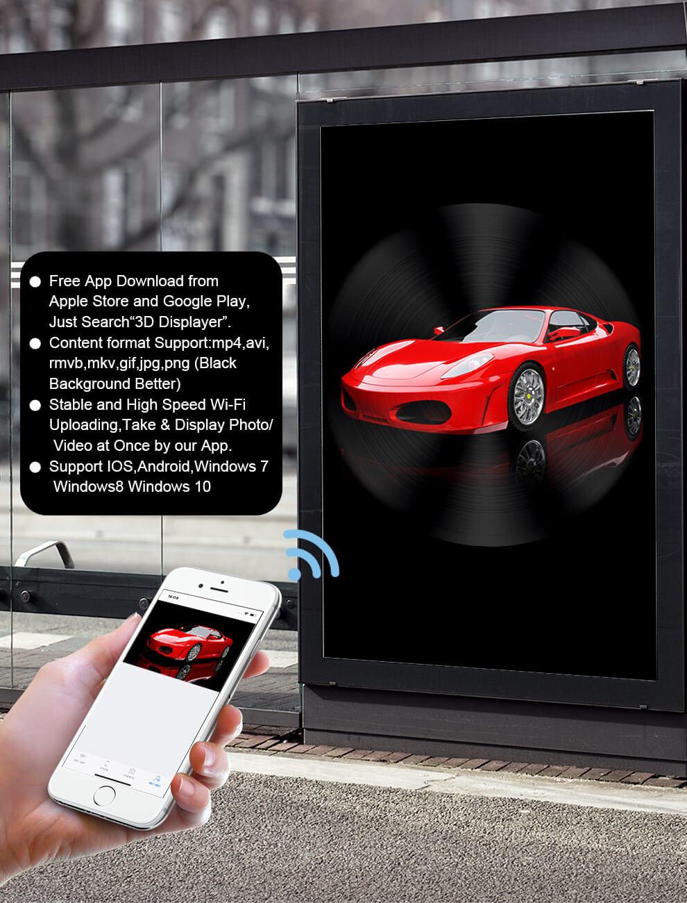 3D hologram led display fan